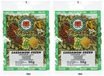 Ngr Kardamom, grün, ganz, 50g, 2er Pack (2 x 50 g Packung) -